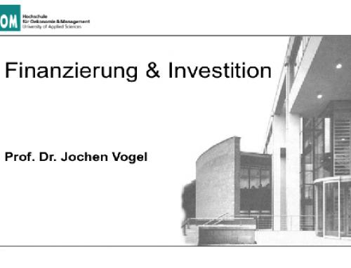 Finanzierung & Investition